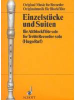 Einzelstuecke und Suiten for Treble Recorder Solo