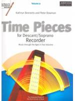 Time Pieces for Descant/Soprano Recorder Vol. 2