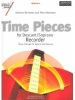 Time Pieces for Descant/Soprano Recorder Vol. 1
